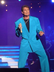 David Hasselhoff in a blue suit