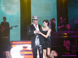 The Hoff on stage with a hot girl